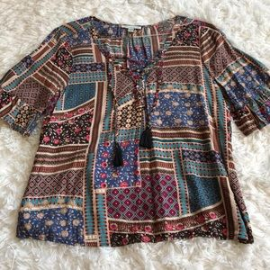 American Eagle Tribal Print Shirt